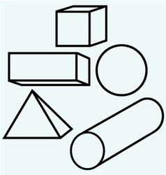Geometric figures vector