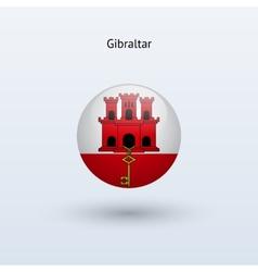 Gibraltar round flag vector image