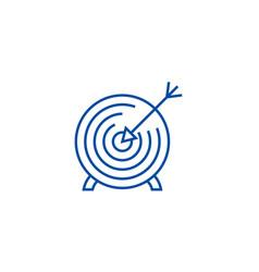 goal target line icon concept goal target flat vector image
