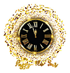gold confetti happy new year background 1711 vector image