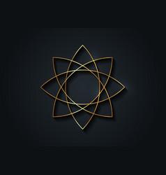 gold lotus flower mandala seed life symbol sign vector image