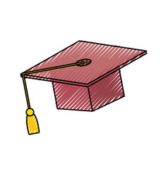 graduation cap design vector image