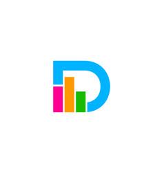 Graph letter d logo icon design vector