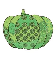 Green pumpkin vector