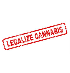 grunge legalize cannabis rounded rectangle stamp vector image