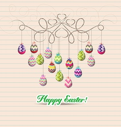 Hand draw doodle easter eggs ornament vector