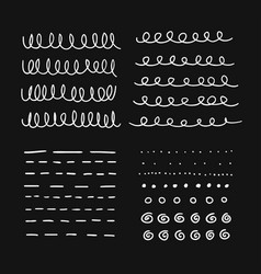 hand drawn set objects for design use white vector image