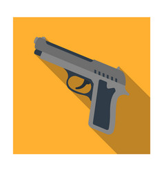 Handgun icon in flat style isolated on white vector
