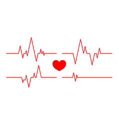 Heartbeat line pulse and cardiogram on monitor vector