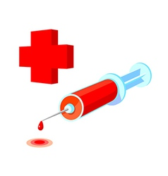 Icon syringe vector