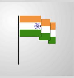India waving flag creative background vector