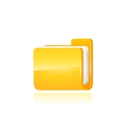 Interface computer folder vector