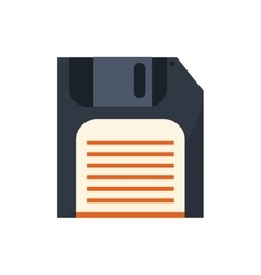 Isolated diskette technology design vector