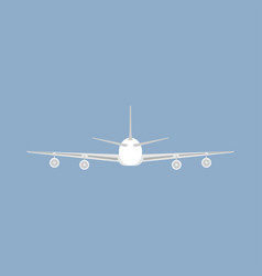 Jetliner tourism transportation isolated flat vector