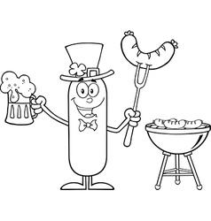 Leprechaun Sausage Cartoon vector