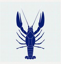 lobster sketch vector image