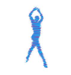 Man is posing and dancing 3d model of man sport vector