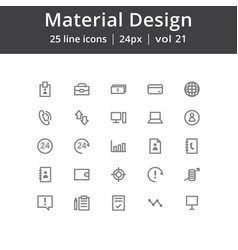 Material design user interface icons vector