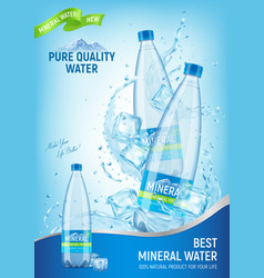 Mineral water advert poster vector