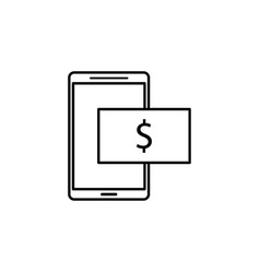 mobile phone dollar icon element of finance vector image