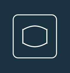 Monitor icon line symbol premium quality isolated vector