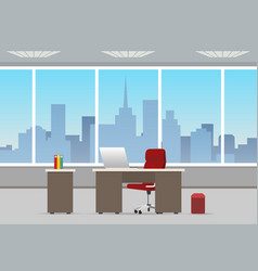 office room business interior vector image