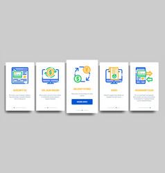 online transactions onboarding vector image
