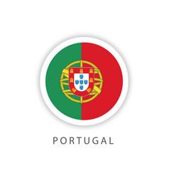 Portugal circle flag template design vector