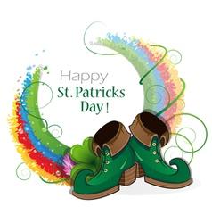 Rainbow clover and Leprechaun shoes vector
