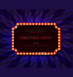 retro christmas light sign vector image