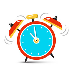 ringing alarm clock icon with five minutes to vector image