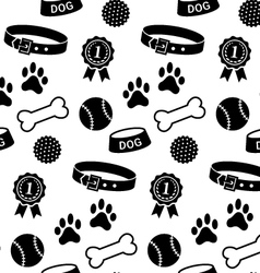 Seamless pattern with dogs stuff vector