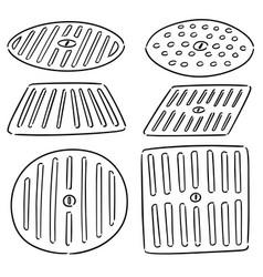 Set cover drain vector