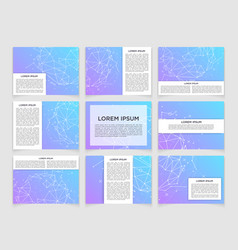 Set of modern scientific banners vector