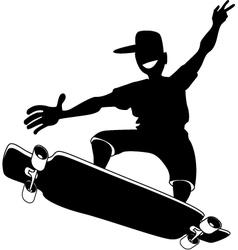Skateboarder vector image