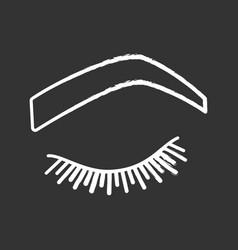 Steep arched eyebrow shape chalk icon vector