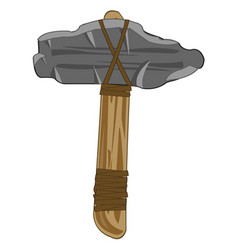 stone axe of the ancient person vector image