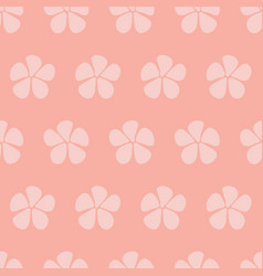 stylized flowers seamless pattern pink vector image