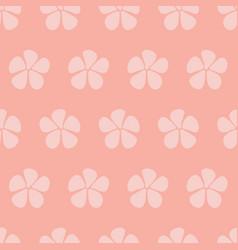 Stylized flowers seamless pattern pink vector