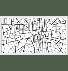 Tehran iran map in black and white color vector