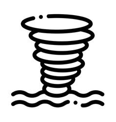 tornado sea water icon outline vector image