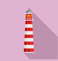 tower lighthouse icon flat style vector image