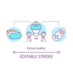 virtual reality concept icon vector image
