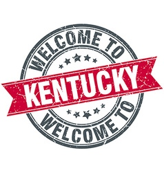 Welcome to kentucky red round vintage stamp vector