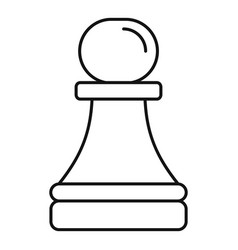 white pawn icon outline style vector image