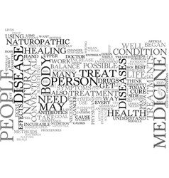why choose naturopathic medicine text word cloud vector image