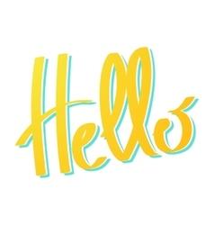 Word Hello lettering vector