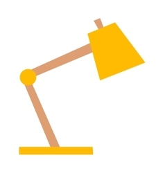 Yellow desk lamp vector