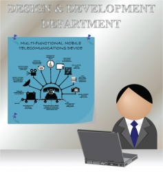 design development vector image