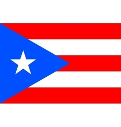 Flag of Puerto Rico in correct proportions colors vector image